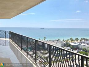 Property for sale at 100 S Birch Rd Unit: 1501A, Fort Lauderdale,  Florida 33316
