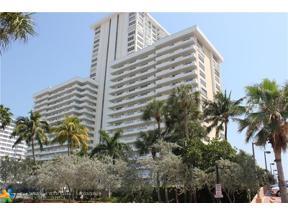 Property for sale at 3900 Galt Ocean Dr Unit: 1001, Fort Lauderdale,  Florida 33308