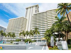 Property for sale at 3900 Galt Ocean Dr Unit: 708, Fort Lauderdale,  Florida 33308