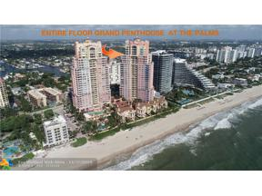 Property for sale at 2110 N Ocean Blvd Unit: PENTHOUSE AKA 29A, Fort Lauderdale,  Florida 33305