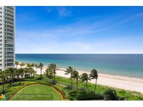 Property for sale at 3200 N Ocean Blvd Unit: 605, Fort Lauderdale,  Florida 33308