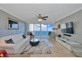Property for sale at 3100 N Ocean Blvd Unit: 1202, Fort Lauderdale,  Florida 33308