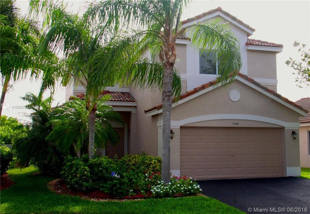 Photo of home for sale at 1354 SABAL TRL, Weston FL