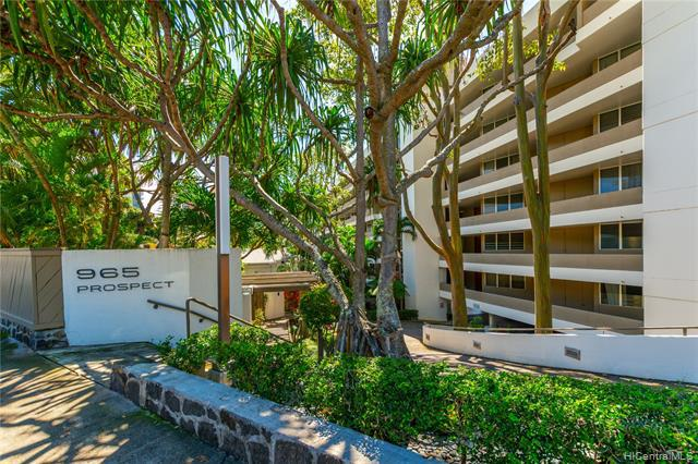 Photo of home for sale at 965 Prospect Street, Honolulu HI