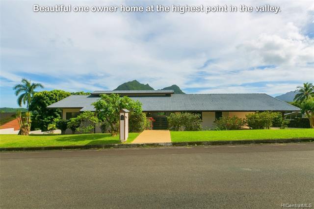 Photo of home for sale at 1345 Lopaka Place, Kailua HI