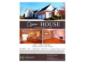 Property for sale at 14828 WOODRUFF Lane, Fishers,  Indiana 46037