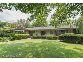 Property for sale at 1600 HILLWOOD DR, Bloomfield Hills,  Michigan 48304