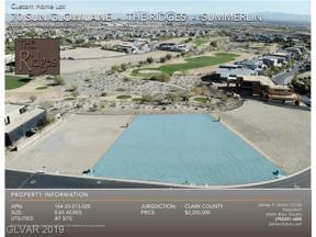 Property for sale at 70 Sun Glow Lane, Las Vegas,  Nevada 89135