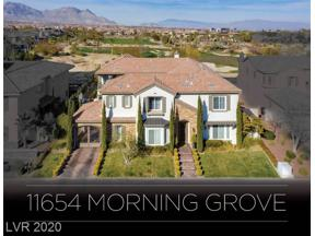 Property for sale at 11654 MORNING GROVE Drive, Las Vegas,  Nevada 89135