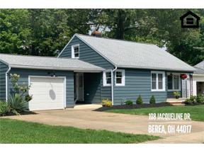 Property for sale at 108 Jacqueline Drive, Berea,  Ohio 44017