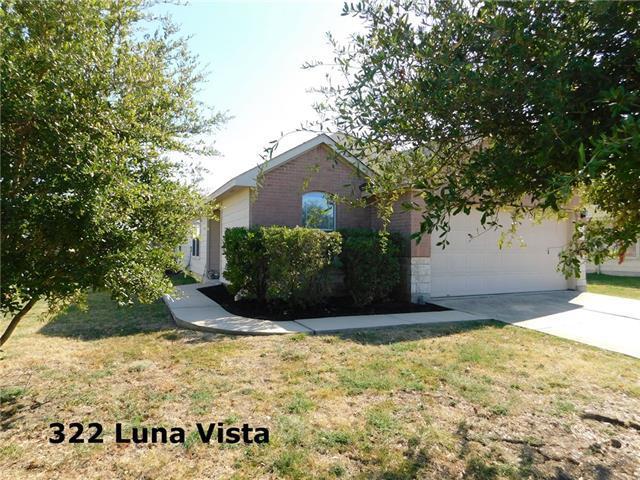 Photo of home for sale at 322 Luna Vista, Hutto TX
