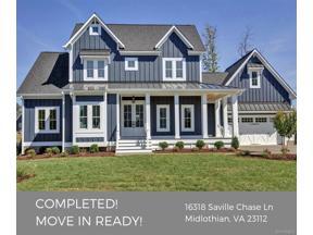 Property for sale at 16318 Saville Chase Lane, Midlothian,  Virginia 23112